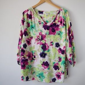 Croft & Barrow Floral Blouse